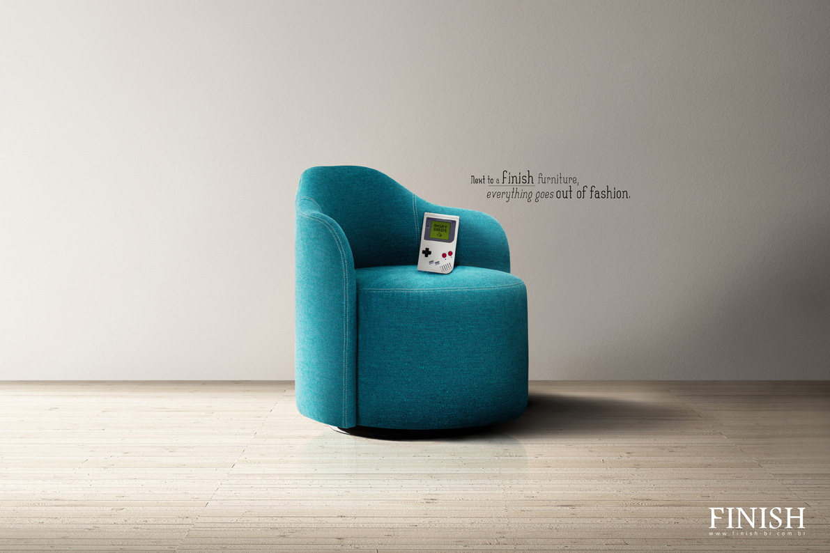 Exceptional Finish Furnitures Print Ad   Angry Birds