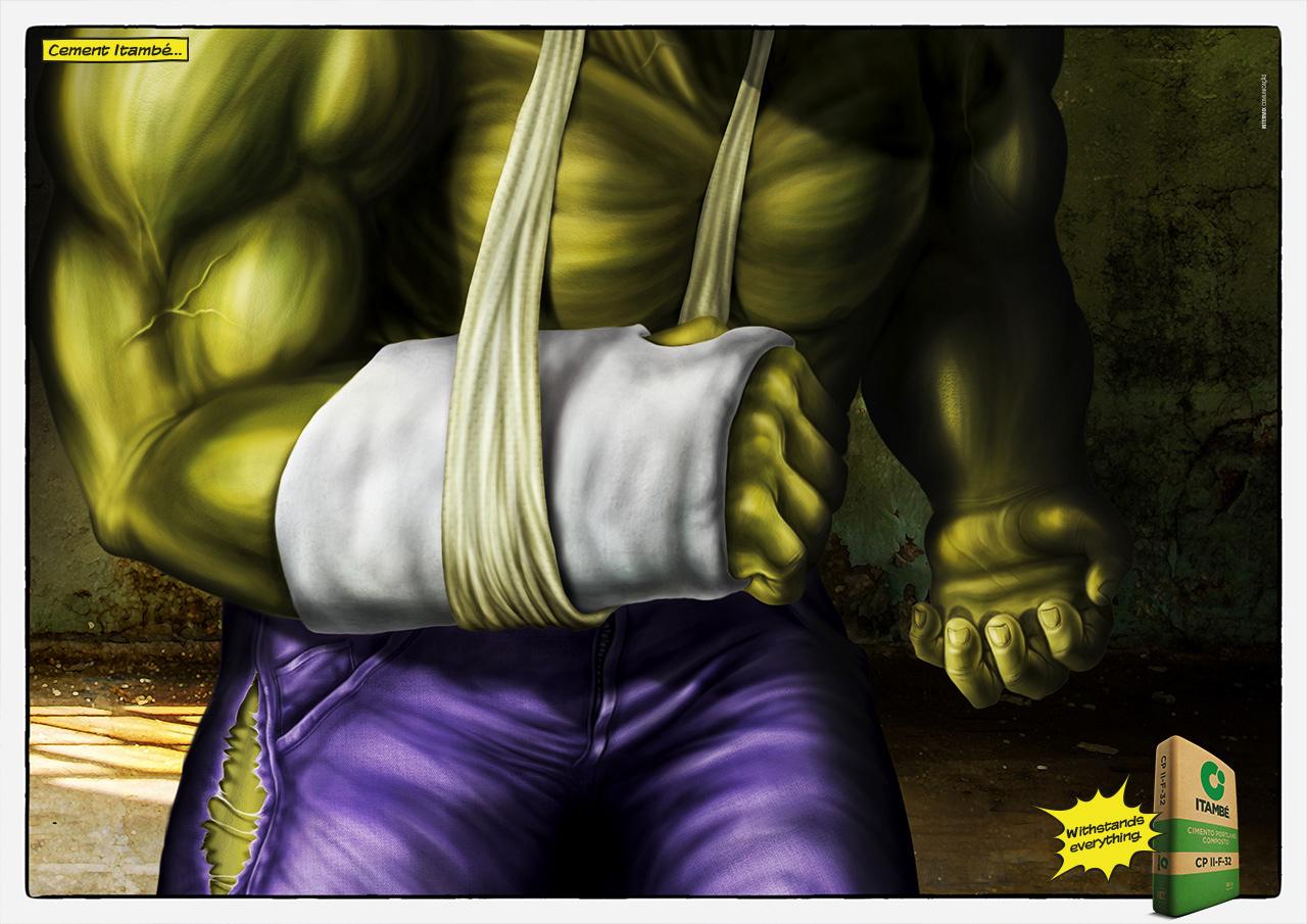 Cement Itambe Print Ad - Hulk