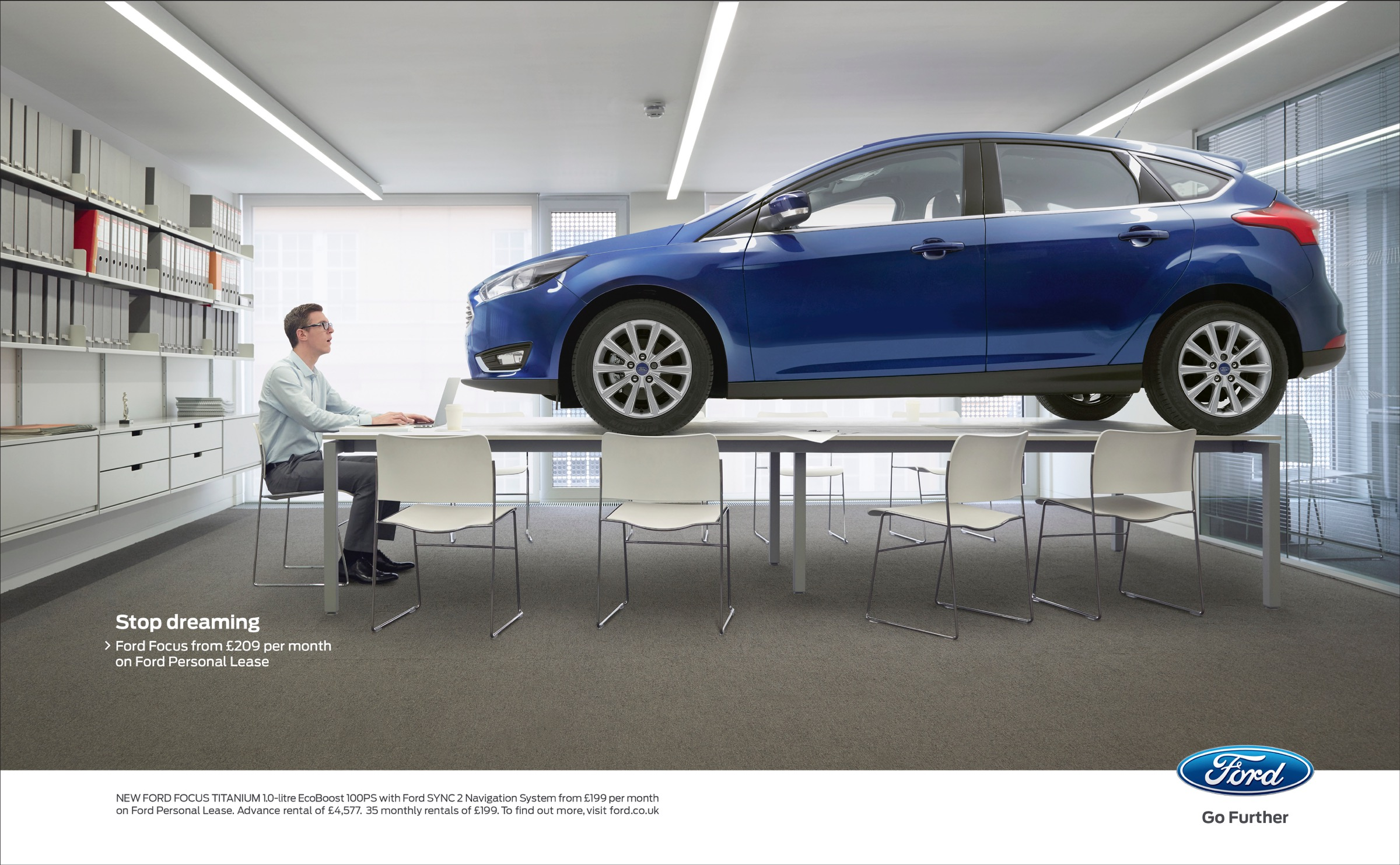 Ford Print Advert By Blue Hive Stop Dreaming 1 Ads Of The World