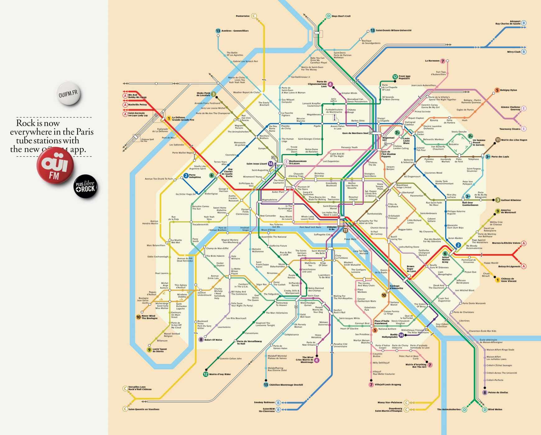 Парижское метро схема интерактивная