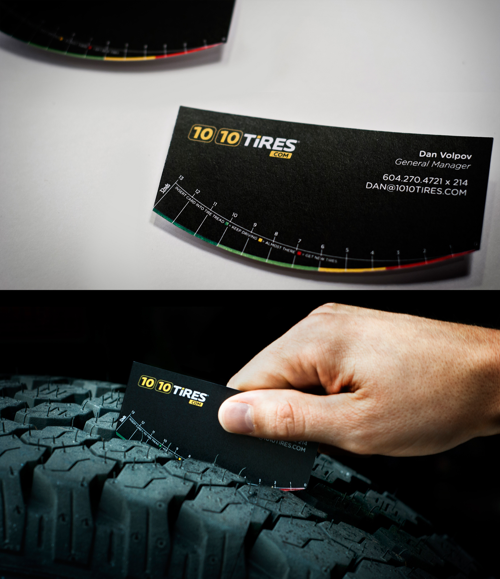 1010 Tires Direct Advert By Spring: Tire tread business card   Ads ...