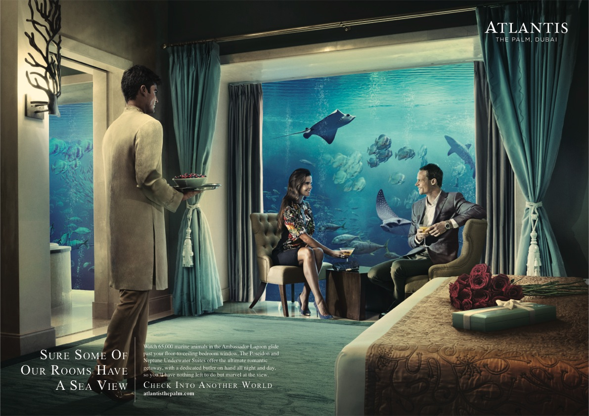 Atlantis Print Advert By JWT: Sea view | Ads of the World™