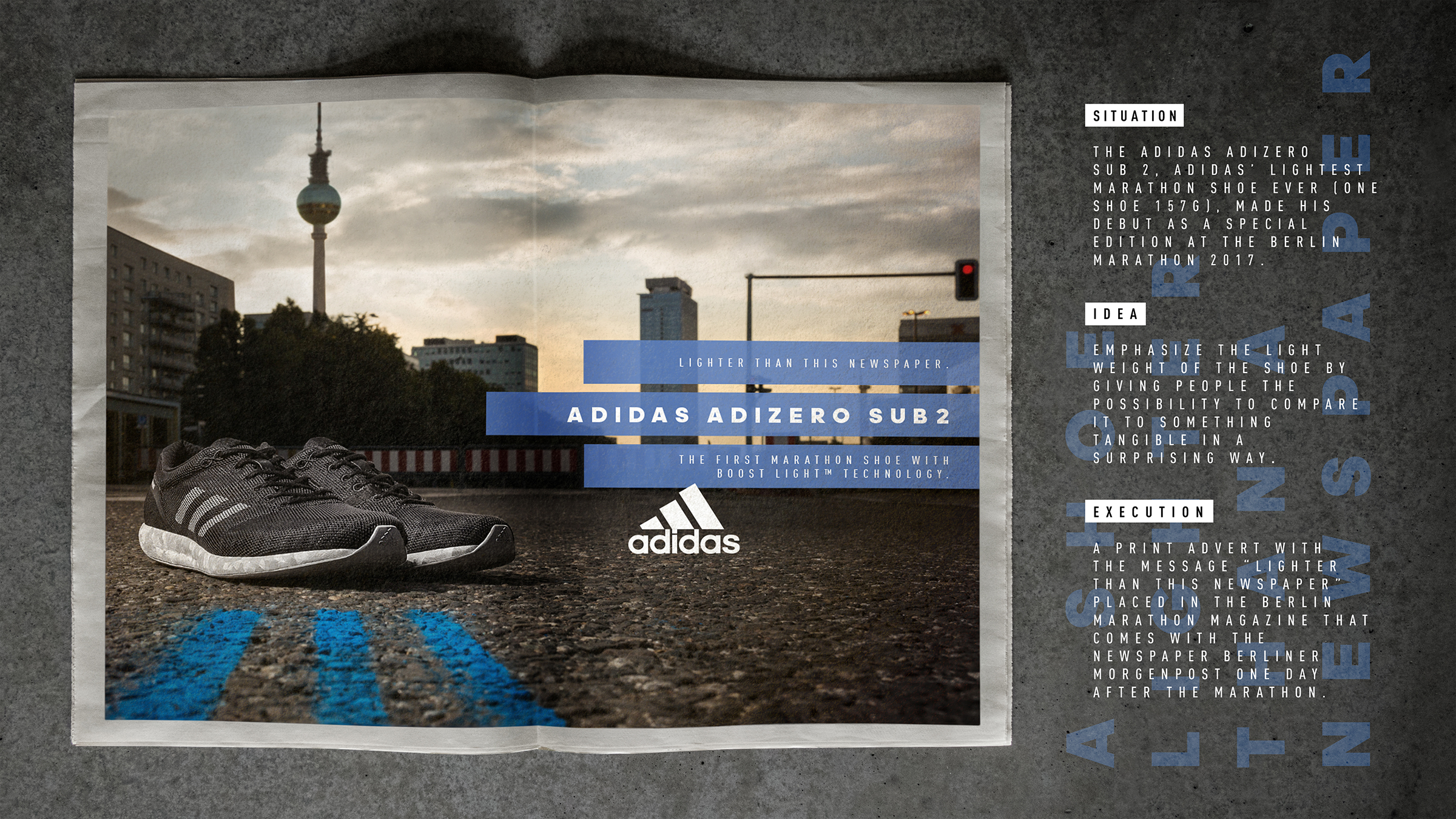 Design Len Berlin adidas print advert by heimat active adidas adizero sub 2 ads of