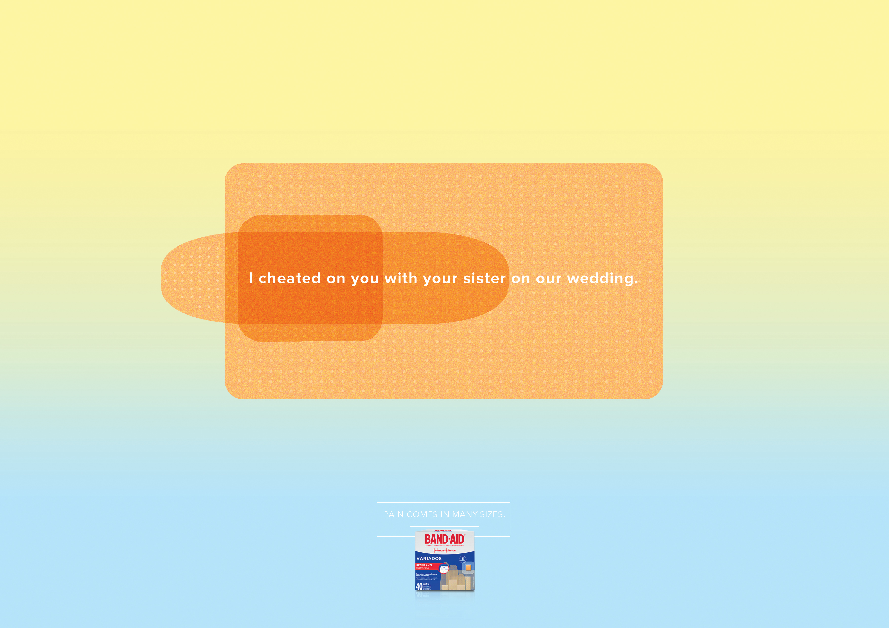 band aid print advert by jwt cheater ads of the world
