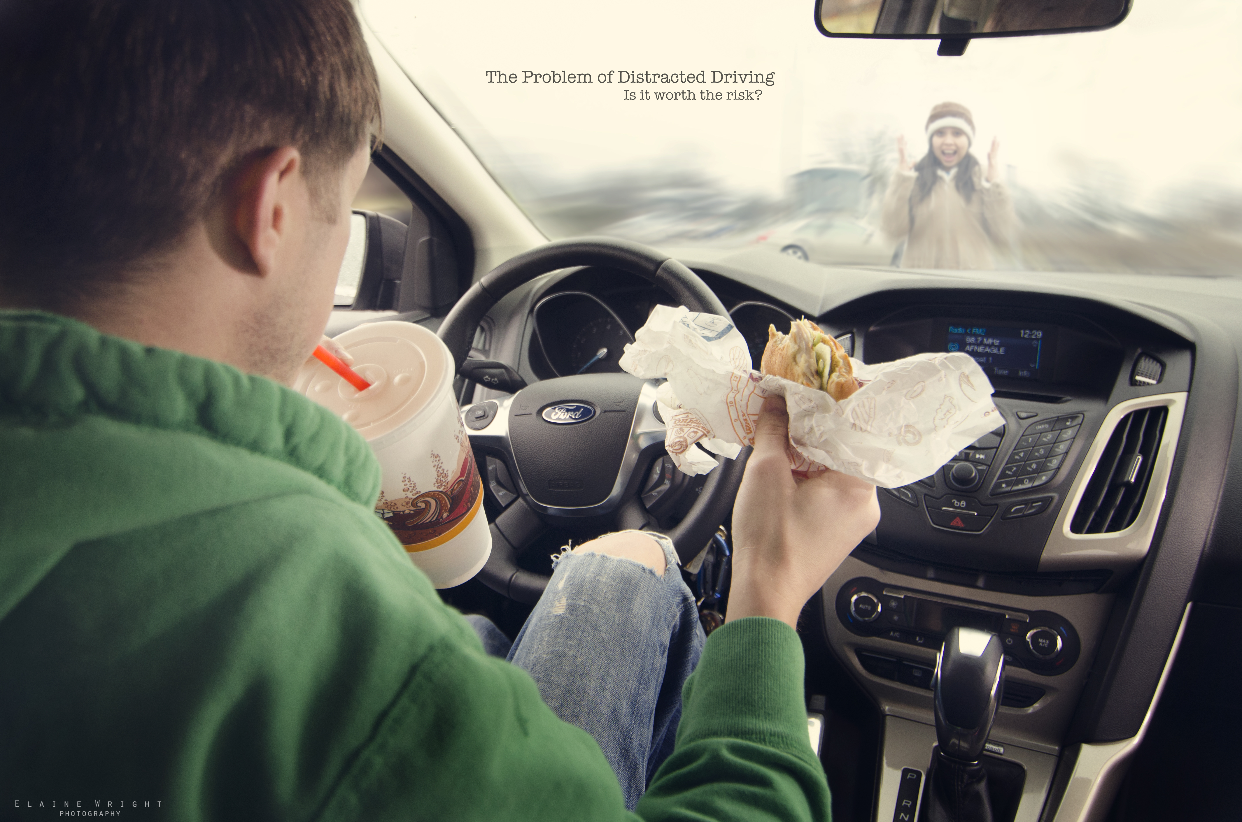 distracted driving 3 essay Distracted driving is the act of driving while engaged in other activities that take the driver's attention away from the road all distractions compromise the safety.