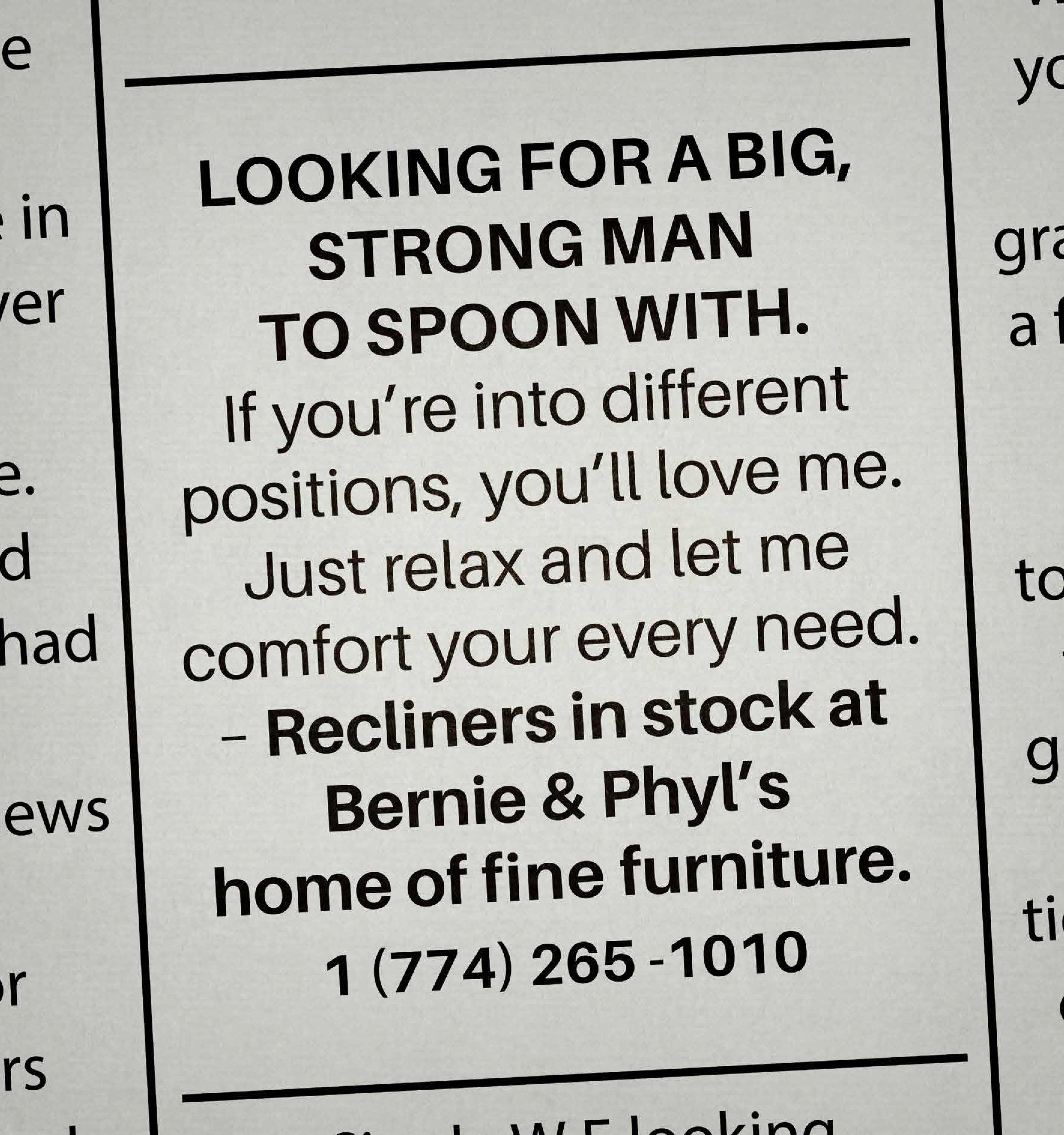 Bernie u0026&; Phylu0026#039;s Print Ad - Personal ads 4  sc 1 st  Ads of the World & Bernie u0026 Phylu0027s Print Advert By Devito/Verdi: Personal ads 4 ... islam-shia.org