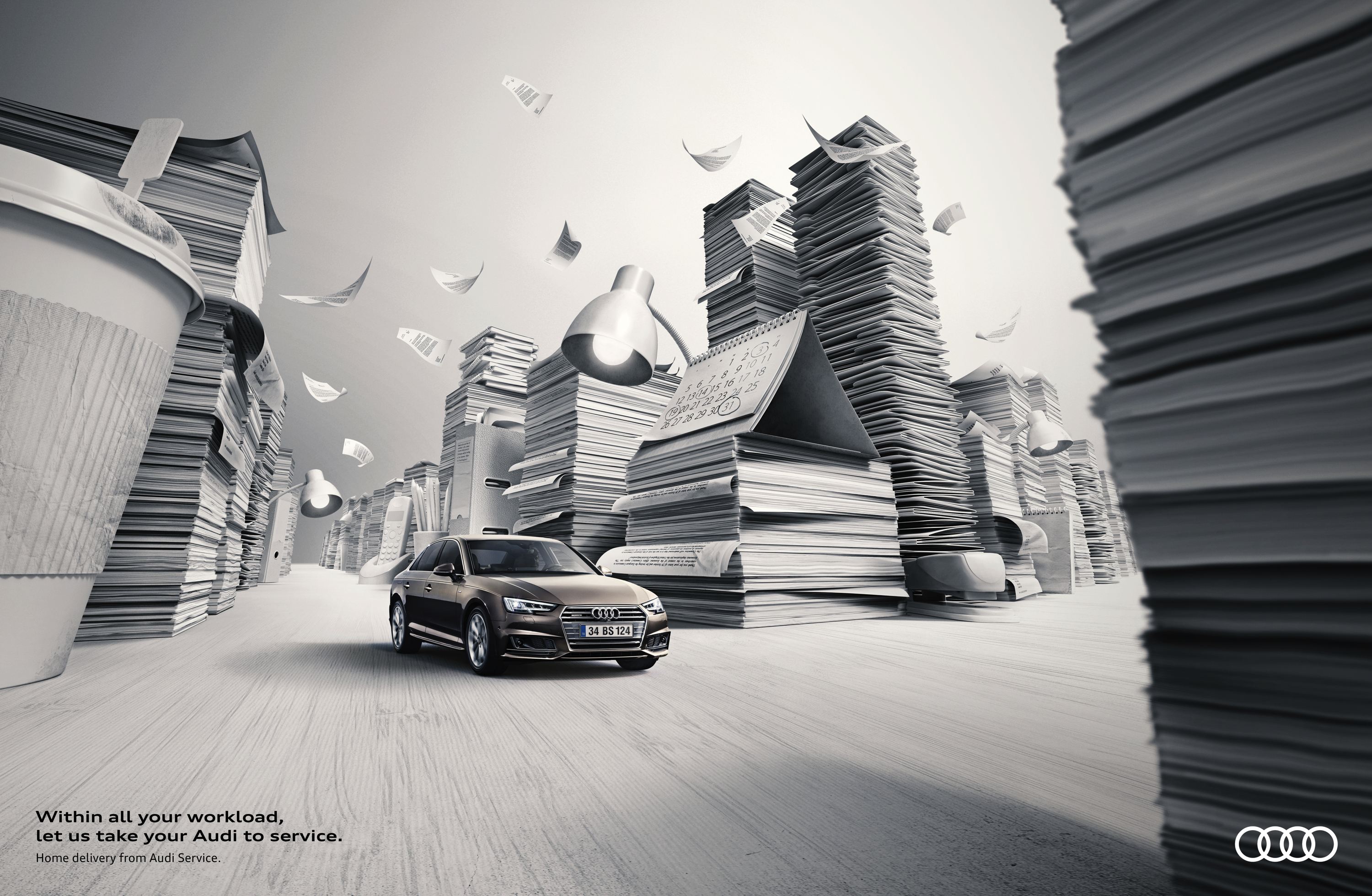 Audi Outdoor Advert By Tribal Home Delivery Service Ads Of The World - Audi home