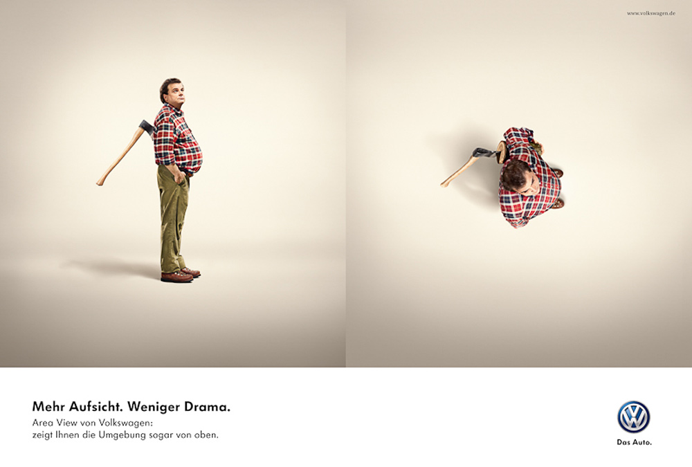 Volkswagen Print Advert By DDB: Axe | Ads of the World™