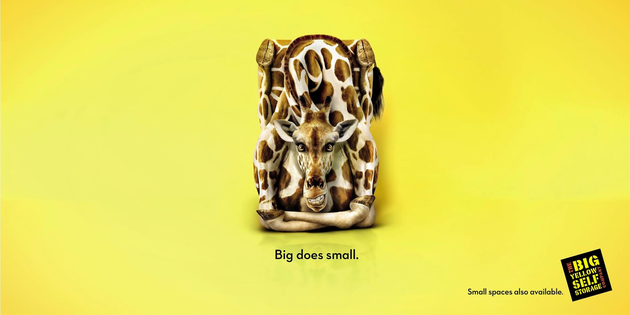 big yellow storage print advert by chi partners giraffe ads of the world. Black Bedroom Furniture Sets. Home Design Ideas
