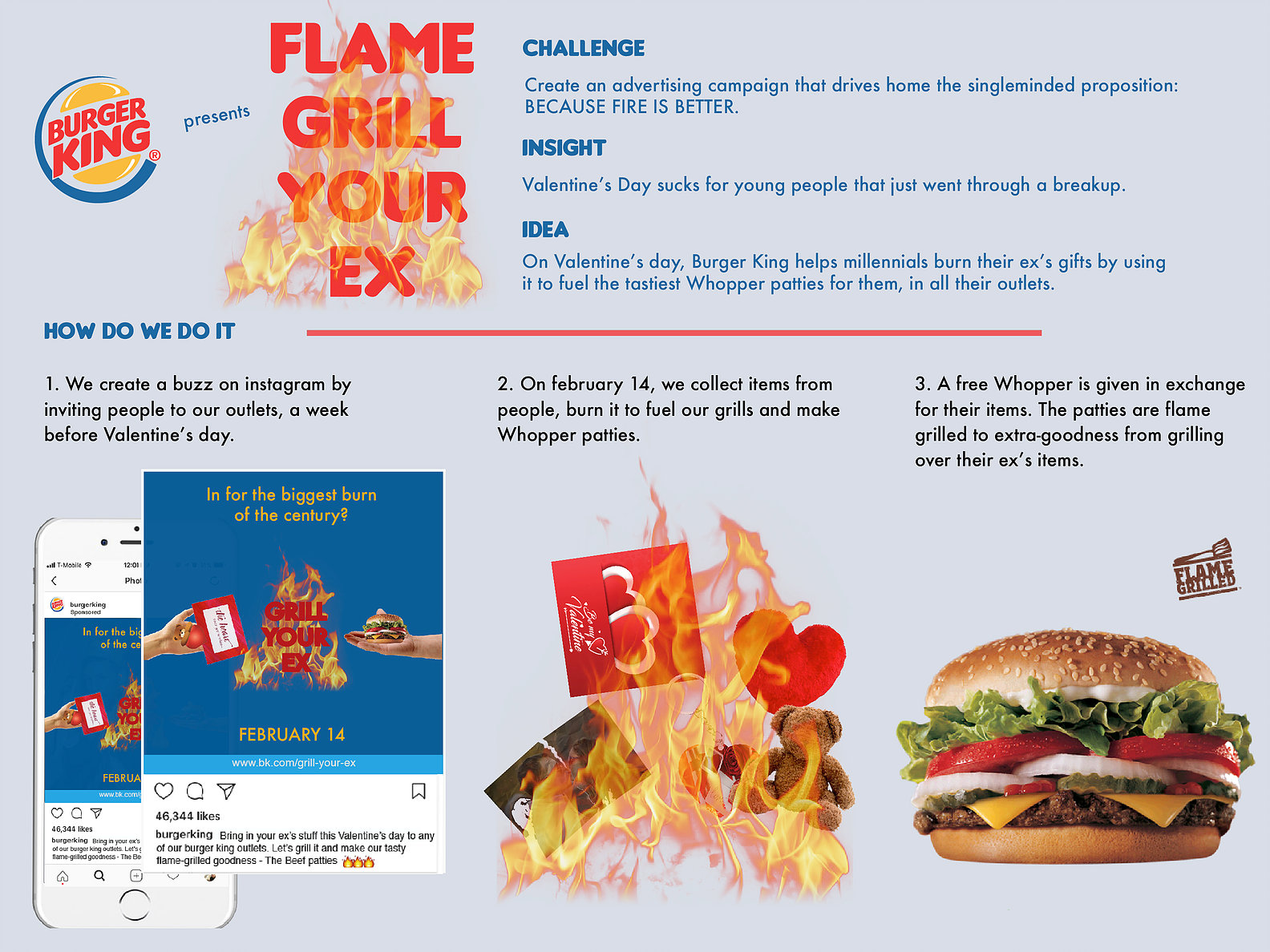 Burger King Digital Advert By Miami Ad School: Flame Grill your EX ...