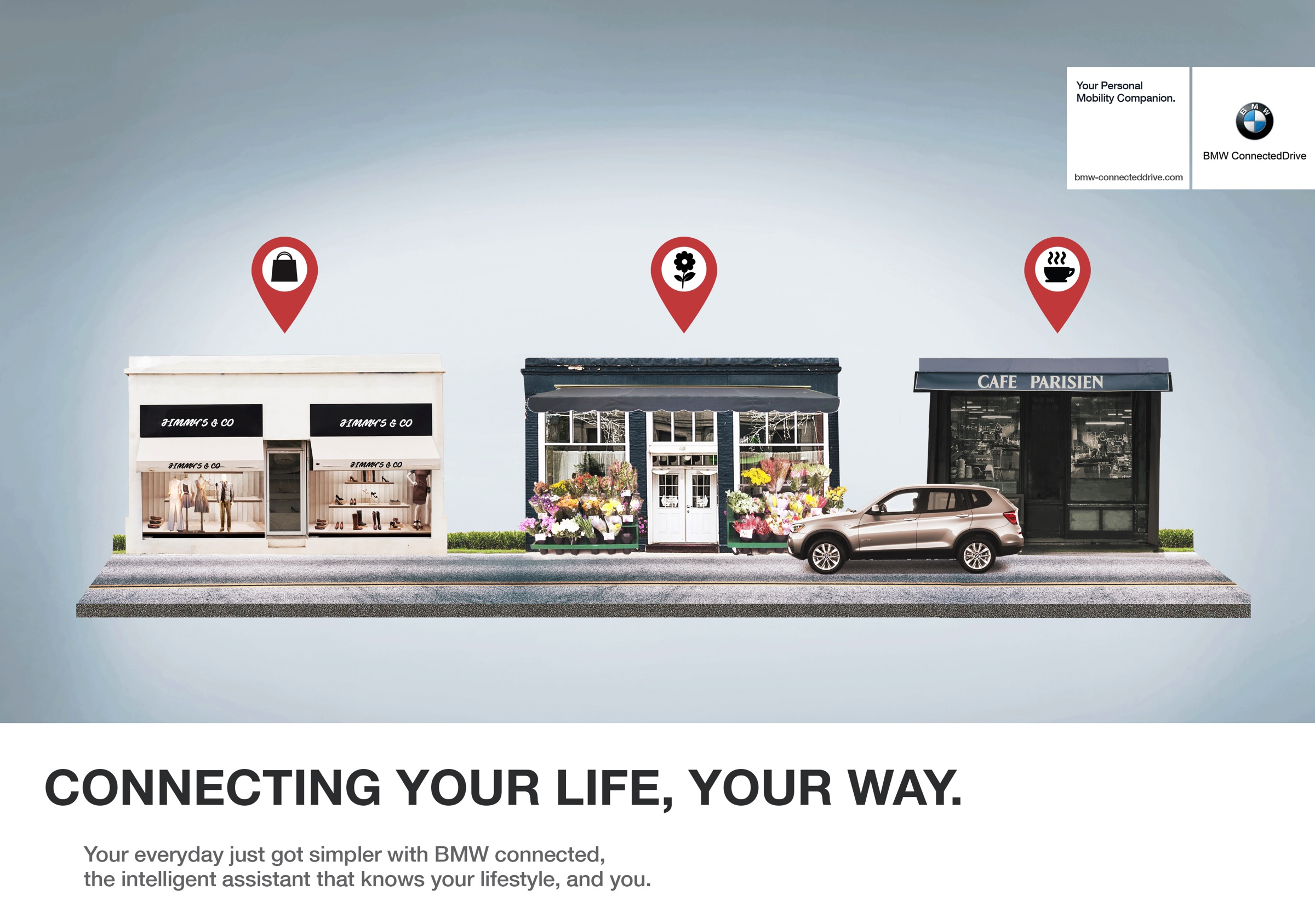 bmw print advert by miami ad school connected drive 1. Black Bedroom Furniture Sets. Home Design Ideas
