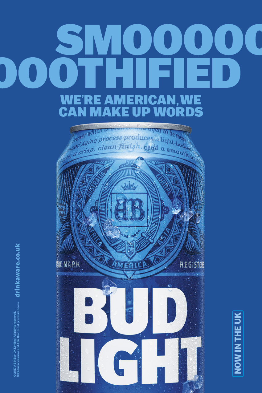 Great Bud Light Outdoor Ad   Smooth Design