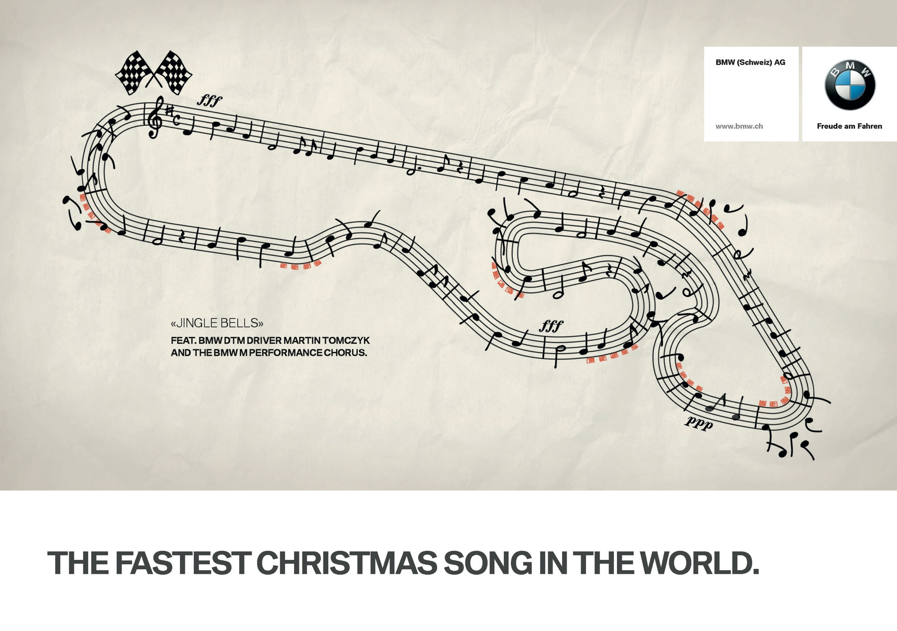 Bmw print advert by fcb the fastest christmas song in the world bmw print ad the fastest christmas song in the world m4hsunfo