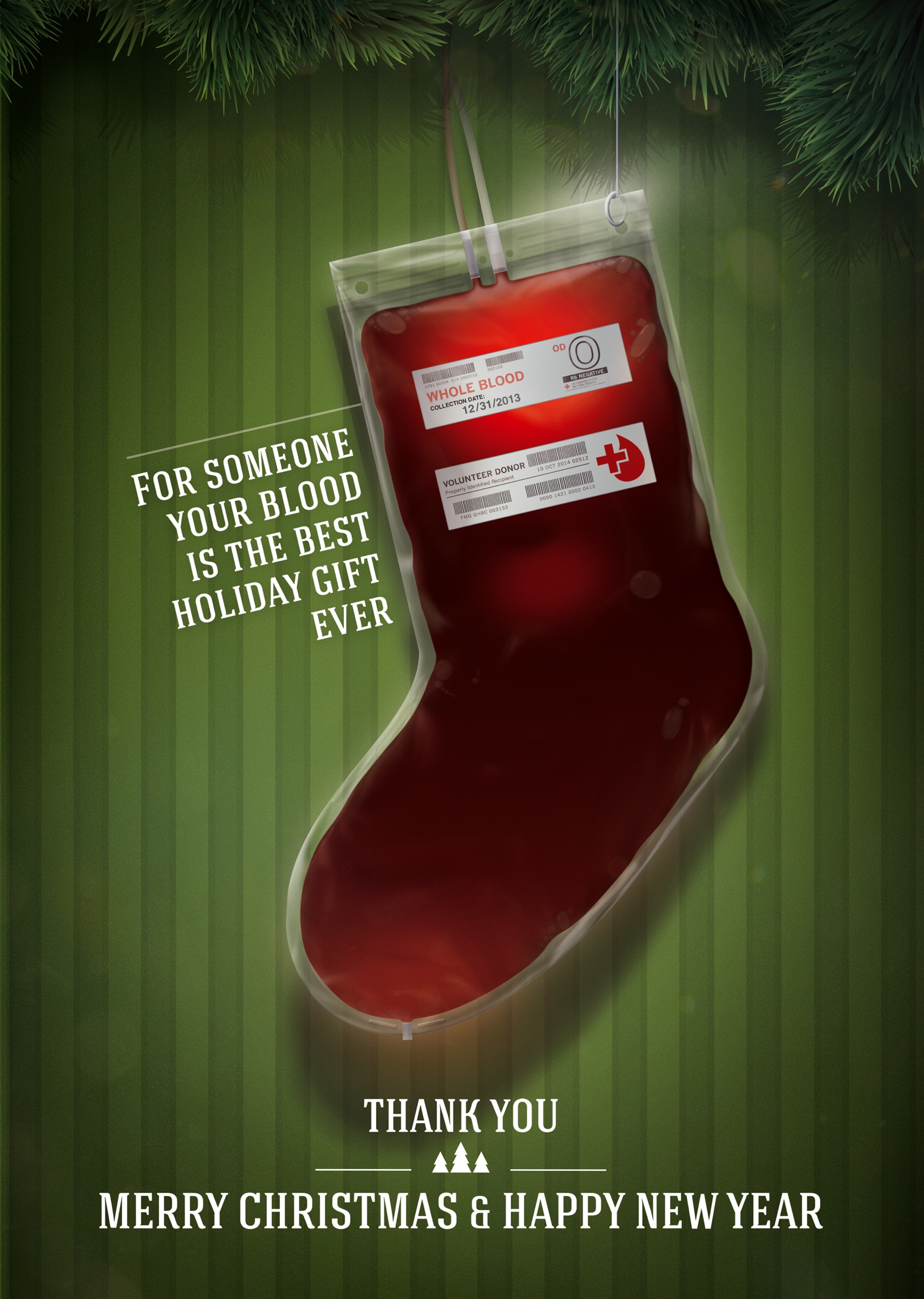 Red Cross Print Advert By Provid: Christmas stocking | Ads of the World™