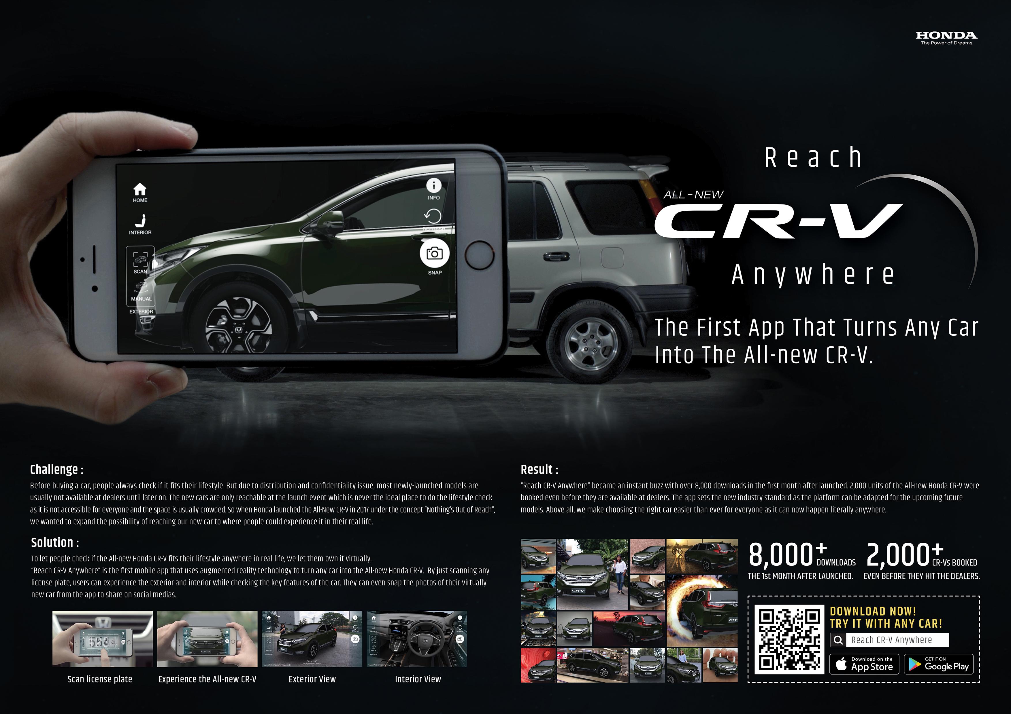 Honda Digital Advert By Rabbit s Tale Reach CR V anywhere