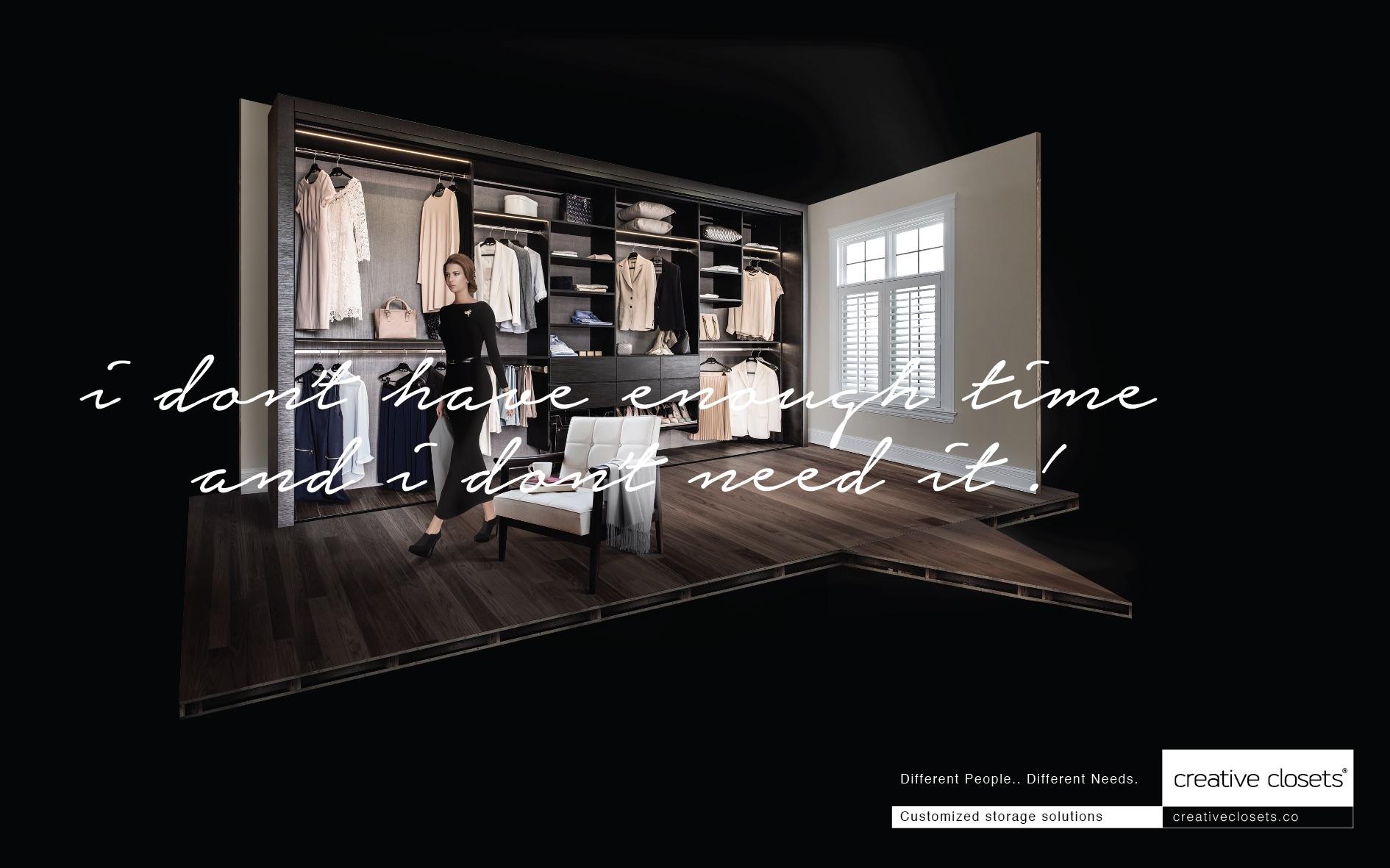 Creative Closets Print Ad   Customized Storage