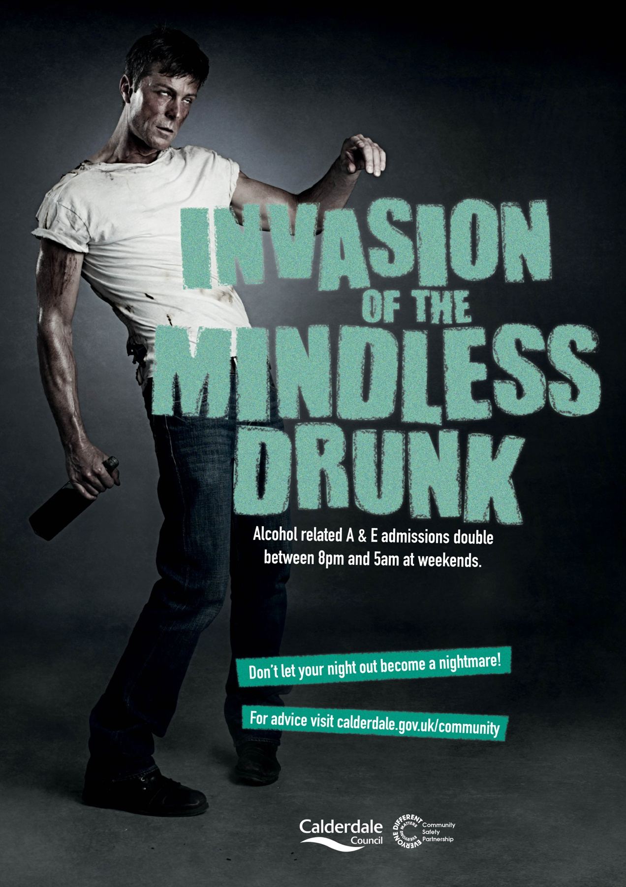 Awareness Campaign  >> Calderdale Council Print Advert By Drink And Drug Awareness