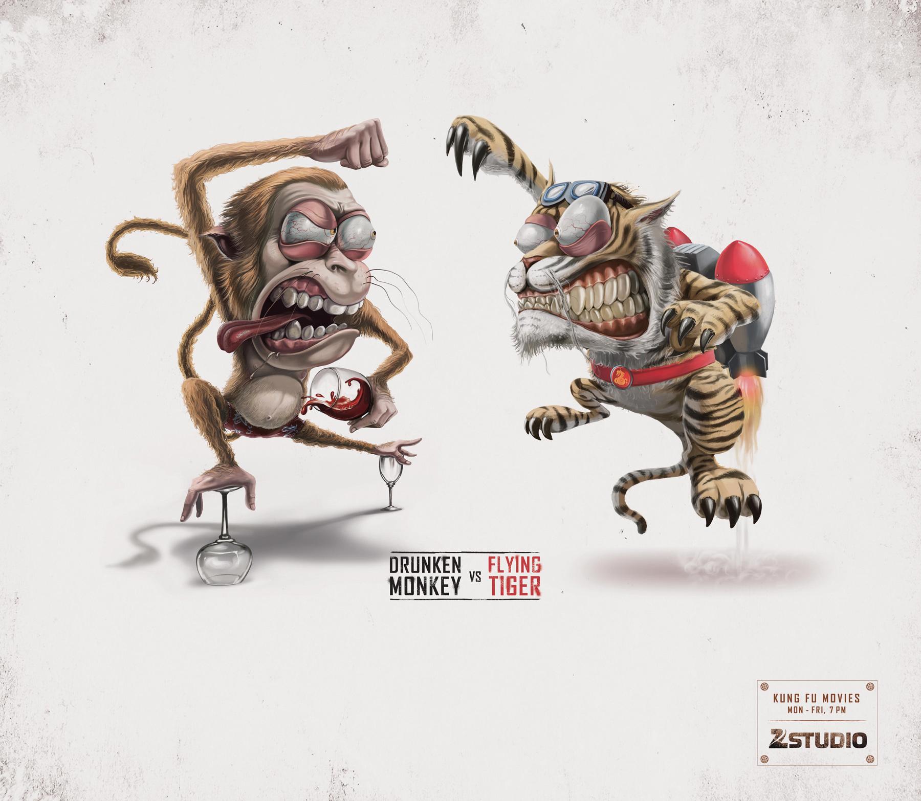 Zee Studio Print Advert By Fcb Kung Fu Movies Drunken