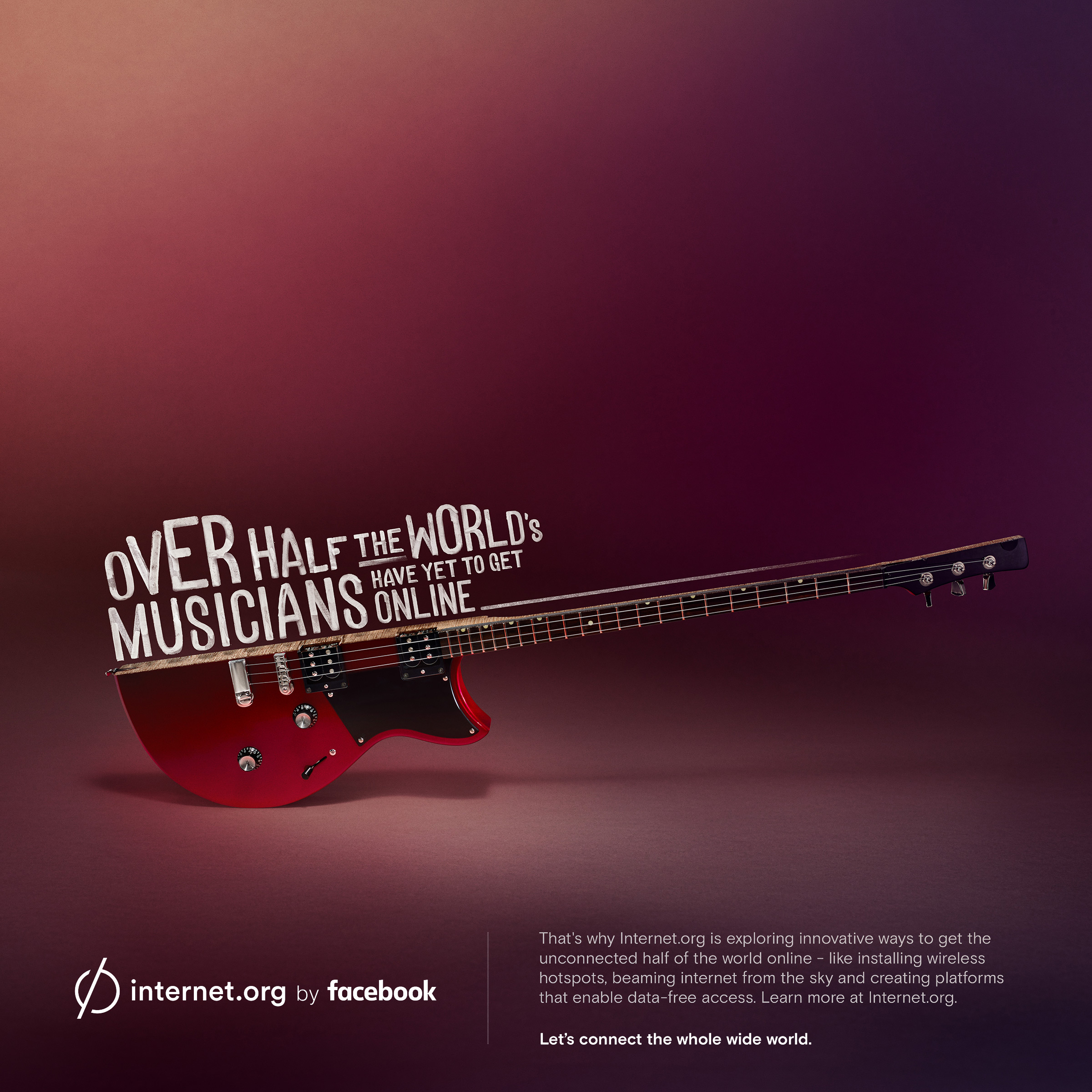 facebook print advert by sid lee musicians electric guitar ads of the world. Black Bedroom Furniture Sets. Home Design Ideas
