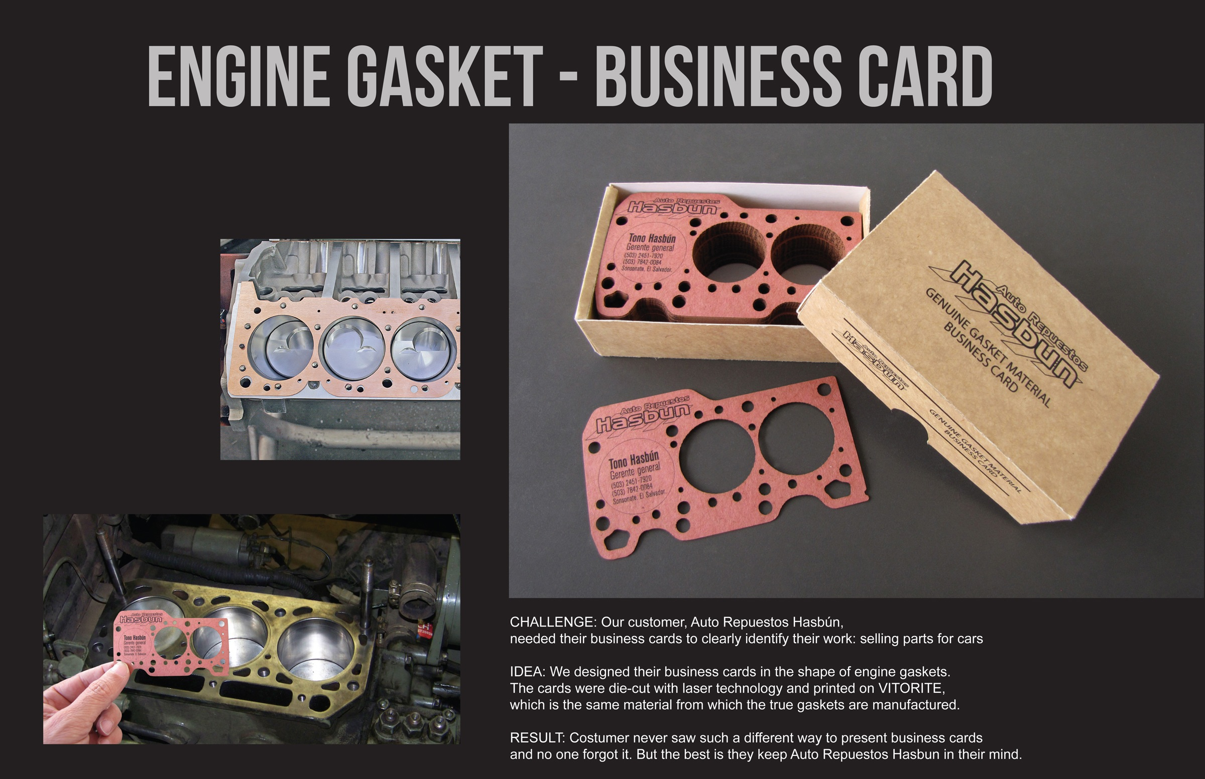 Auto Repuestos Hasbun Direct Advert By BBDO: Engine gasket business ...