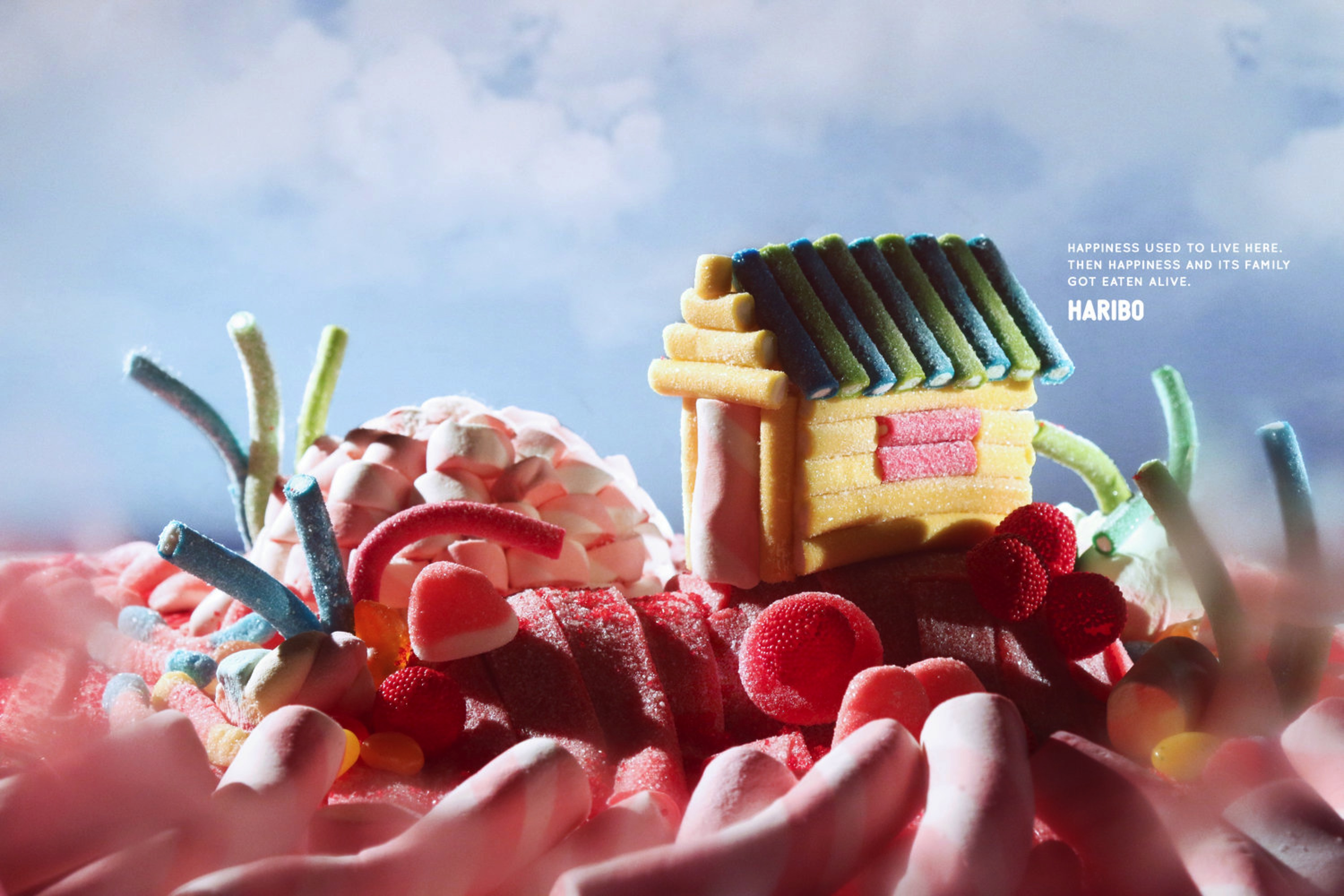 Haribo gummy bears are just one of many products that thomas - Haribo Outdoor Ad Happiness