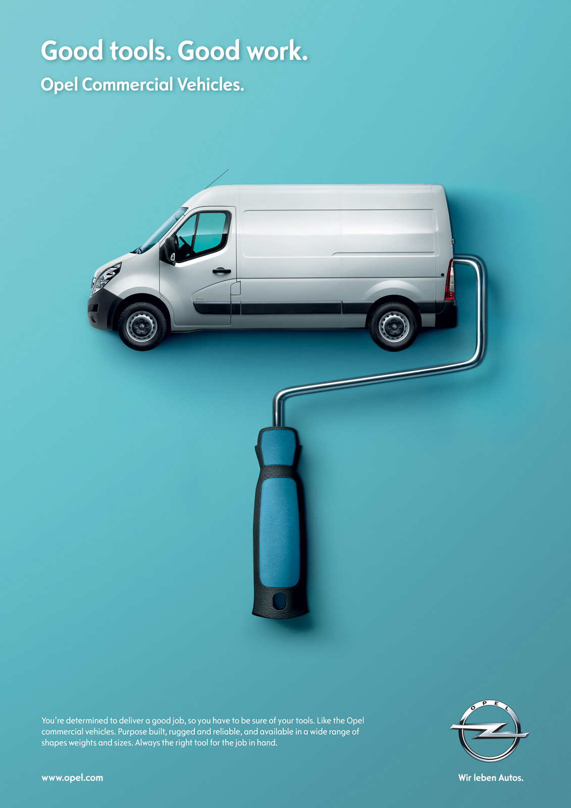 Opel Print Advert By Futurebrand: Paint roller | Ads of the World™