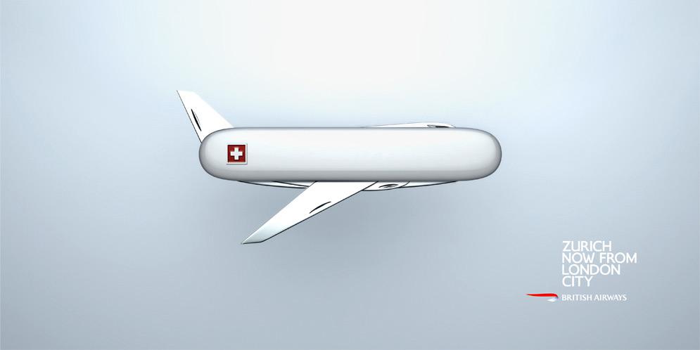 British Airways Print Advert By Bjl Penknife Ads Of The