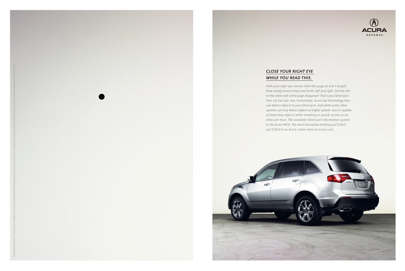 Acura Print Advert By rp&: Blindspot | Ads of the World™ on
