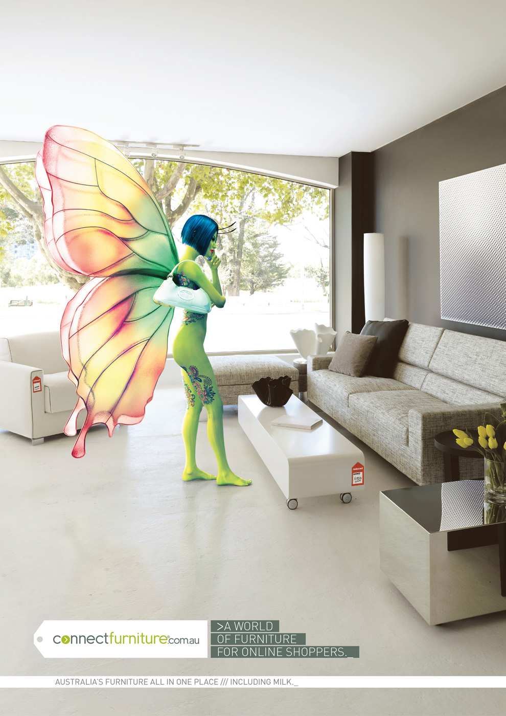 Connect Furniture Print Ad   Butterfly Girl Avatar