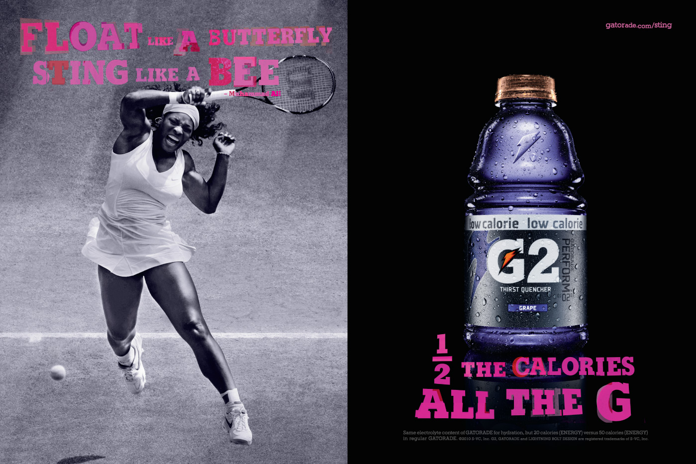 Gatorade Print Advert By TBWA: Tennis | Ads of the World™