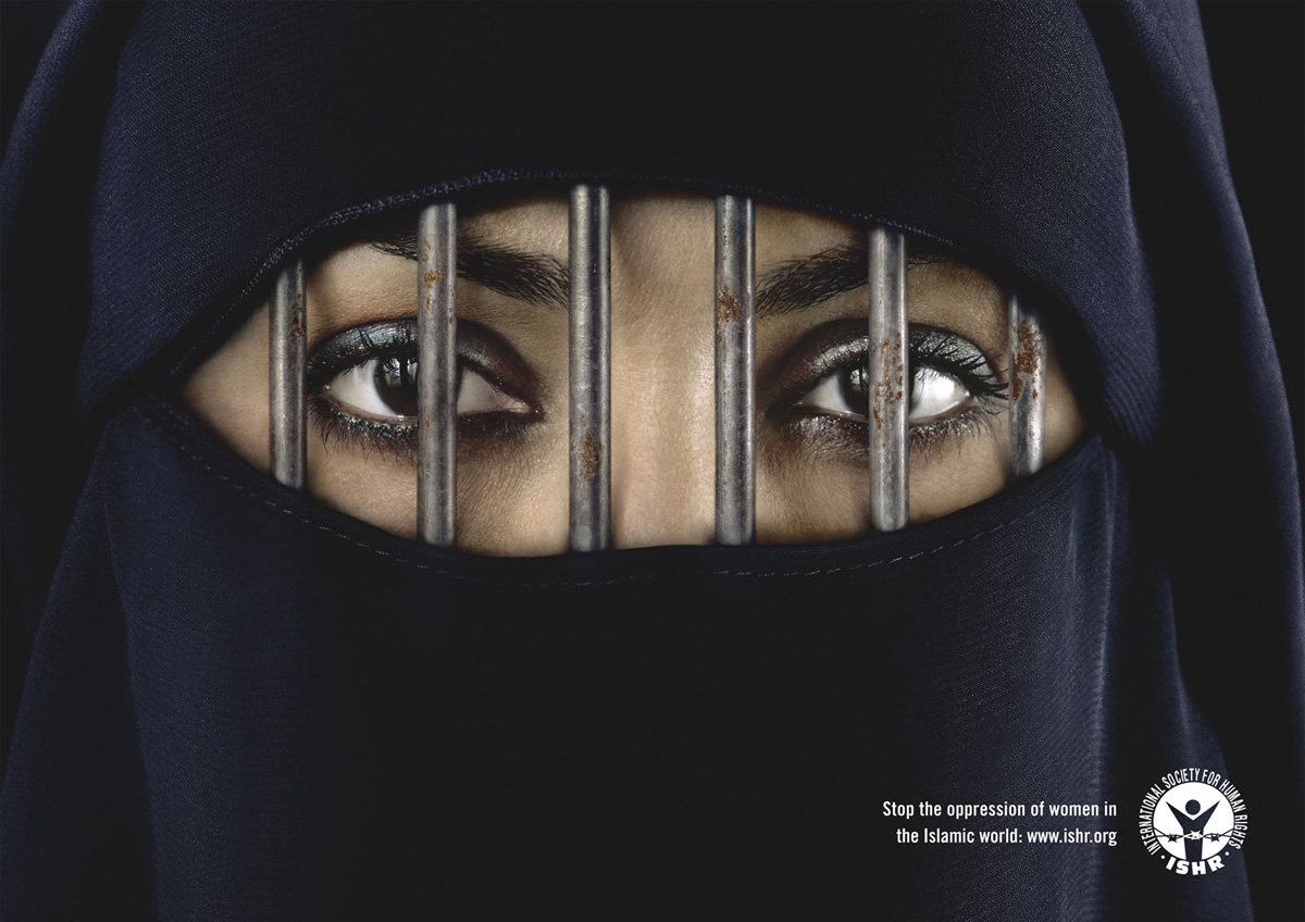 Print Advert By Burka Ads Of The World - 35 controversial shocking adverts make stop think