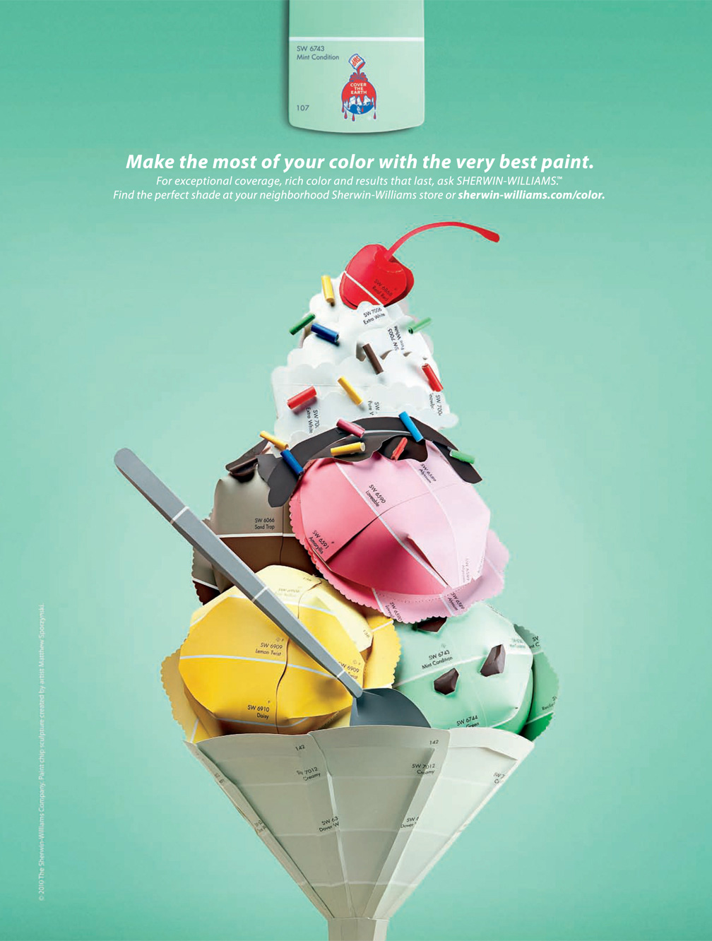 Sherwin Williams Print Advert By Mckinney Color Chips