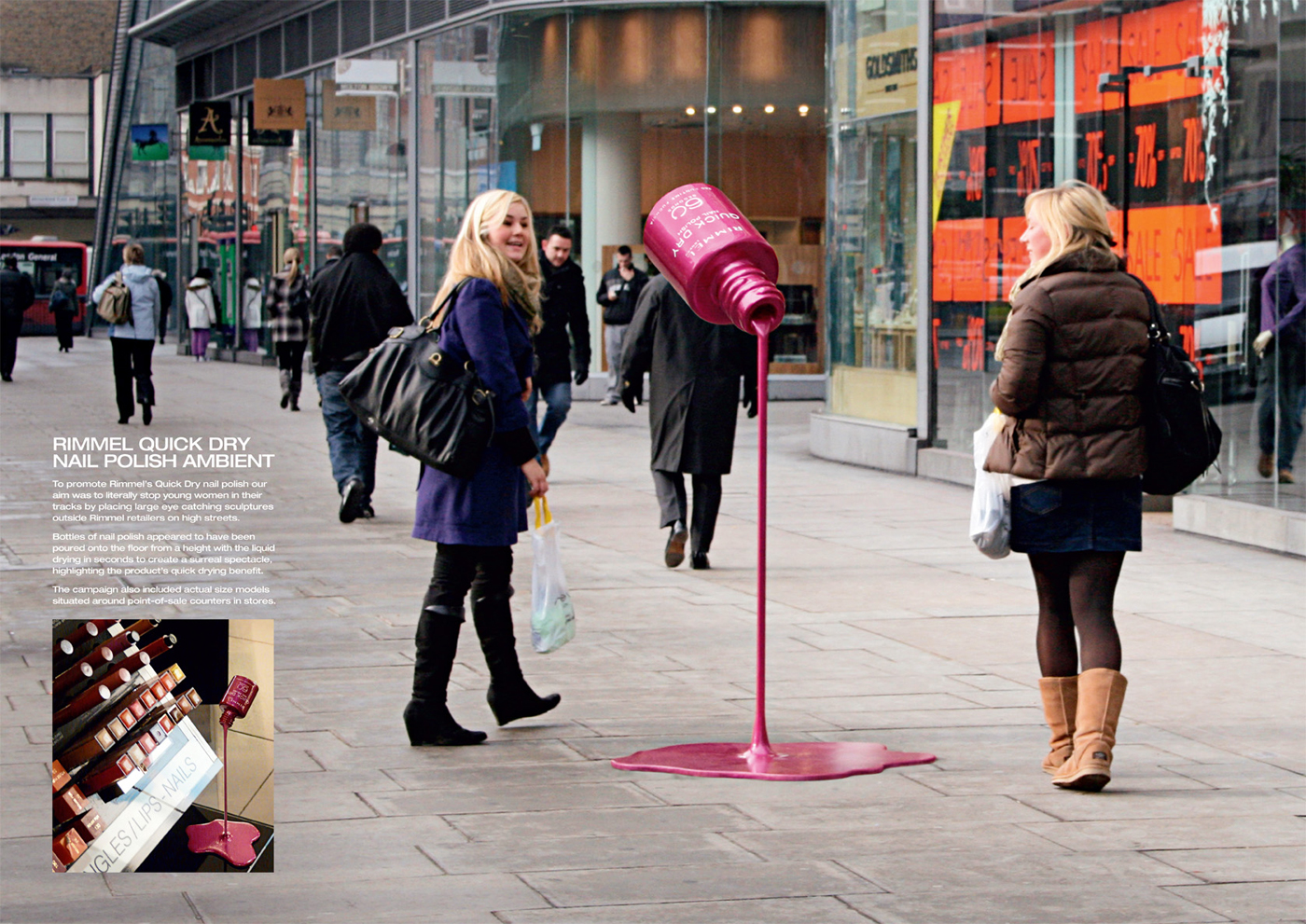 Rimmel Ambient Advert By JWT: Fast | Ads of the World™