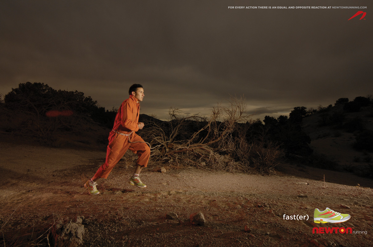 Print Advert By : Prison escape   Ads of the World™ Escaping Running