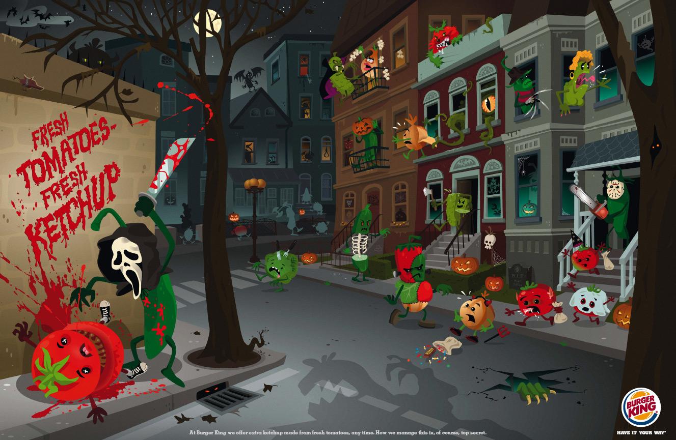 Print Advert By : Veg City, Halloween | Ads of the World™