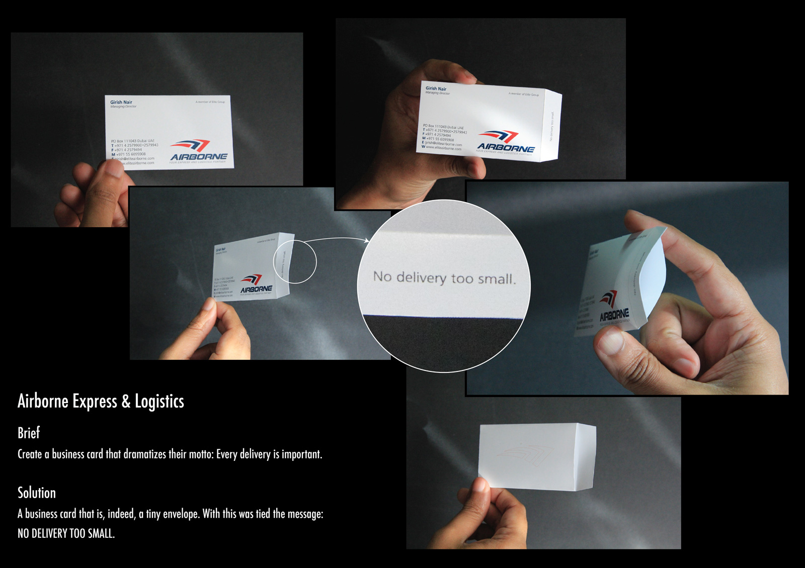 Airborne Direct Advert By Liwa: Business Card | Ads of the World™
