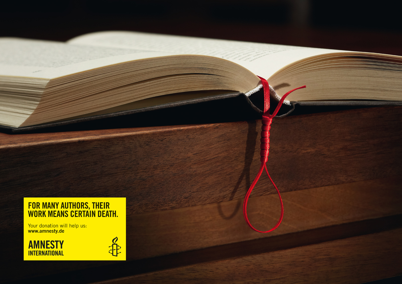 Souvent Amnesty International Print Advert By McCann: Gallows | Ads of the  KX28