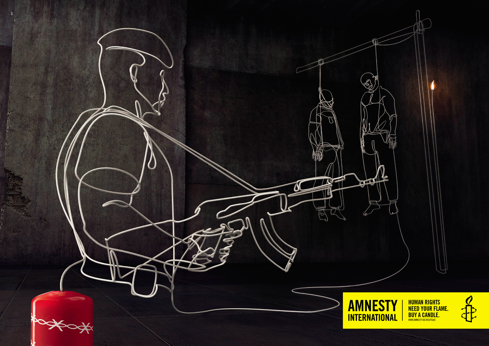 Souvent Amnesty International Print Advert By Air: Execution | Ads of the  KX28