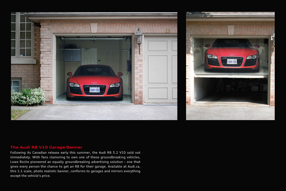 Audi Ambient Advert By Lowe Garage Ads Of The World - Audi car garage