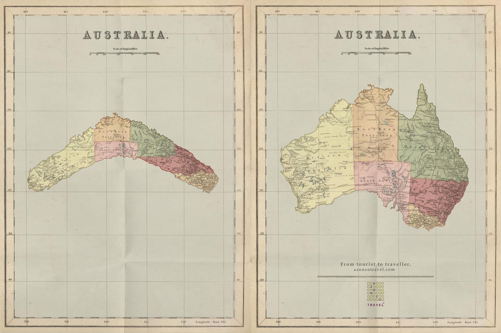 azonzotravel print ad australia map