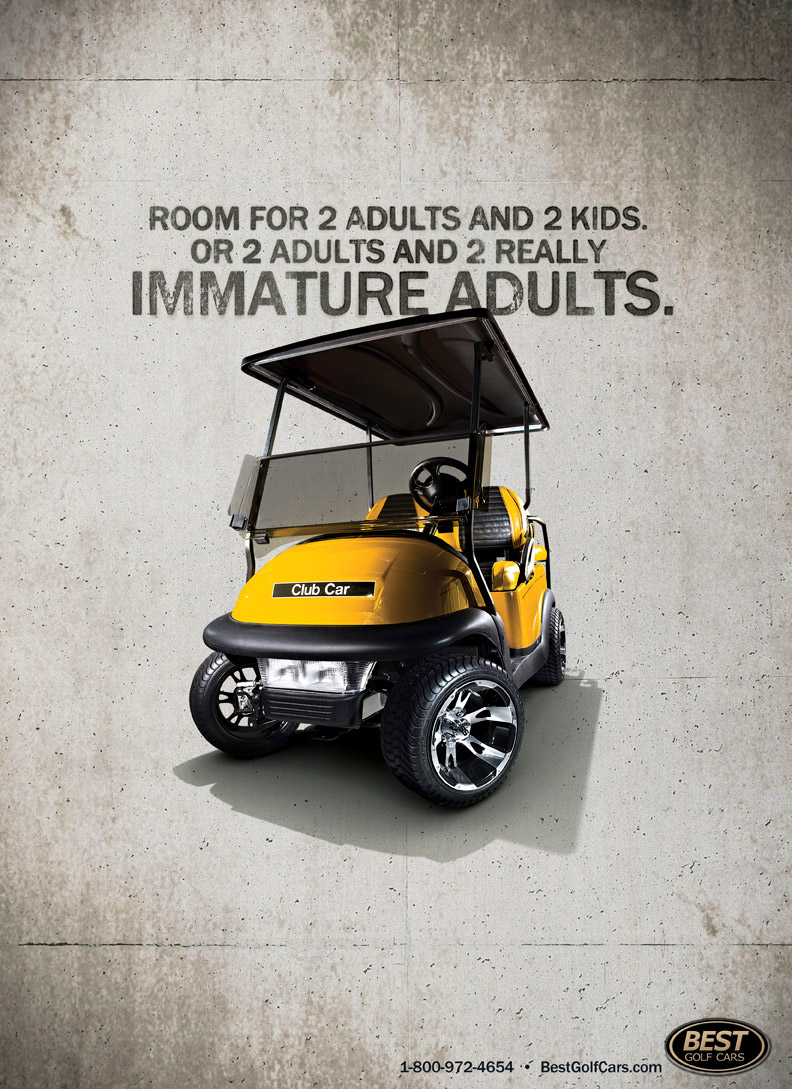 Best Golf Cars Print Advert By Brandon Adults Ads Of The World