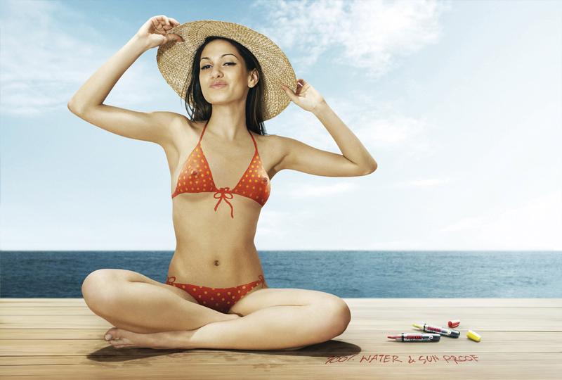 Advertising for bikinis