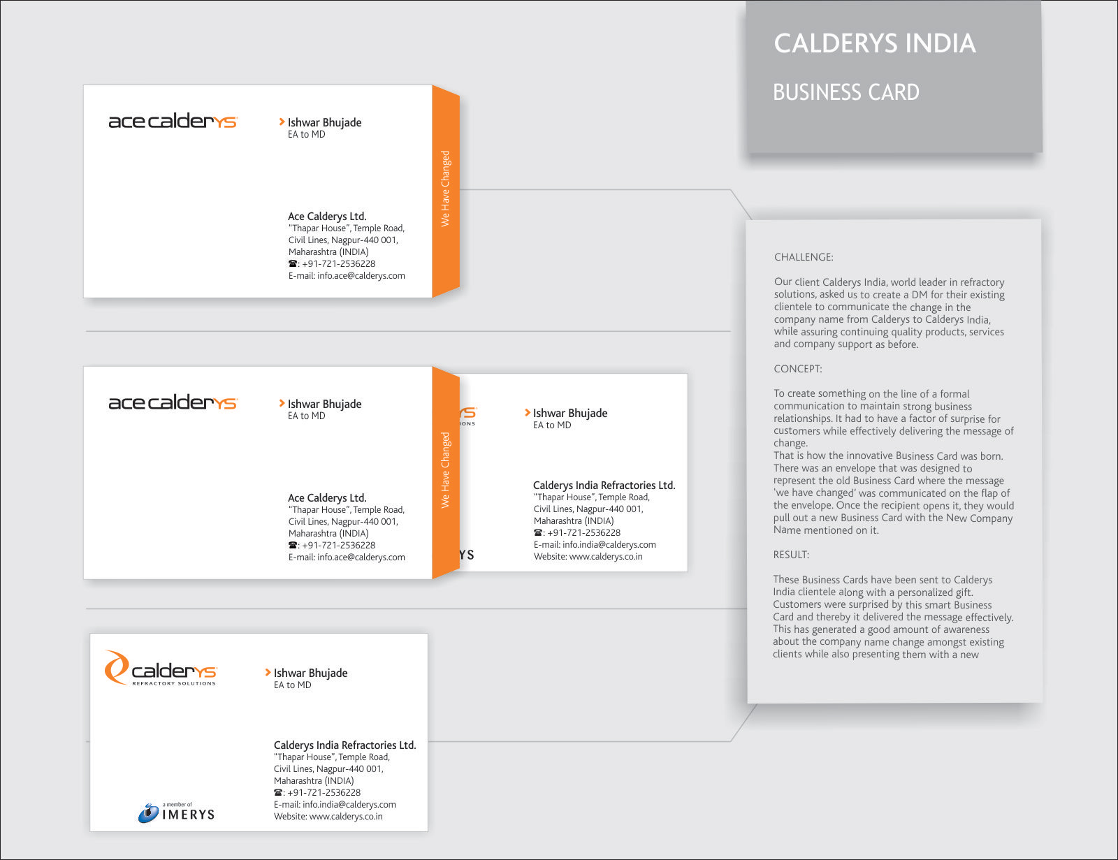 Calderys Direct Advert By Paradigm plus: Business Card | Ads of the ...