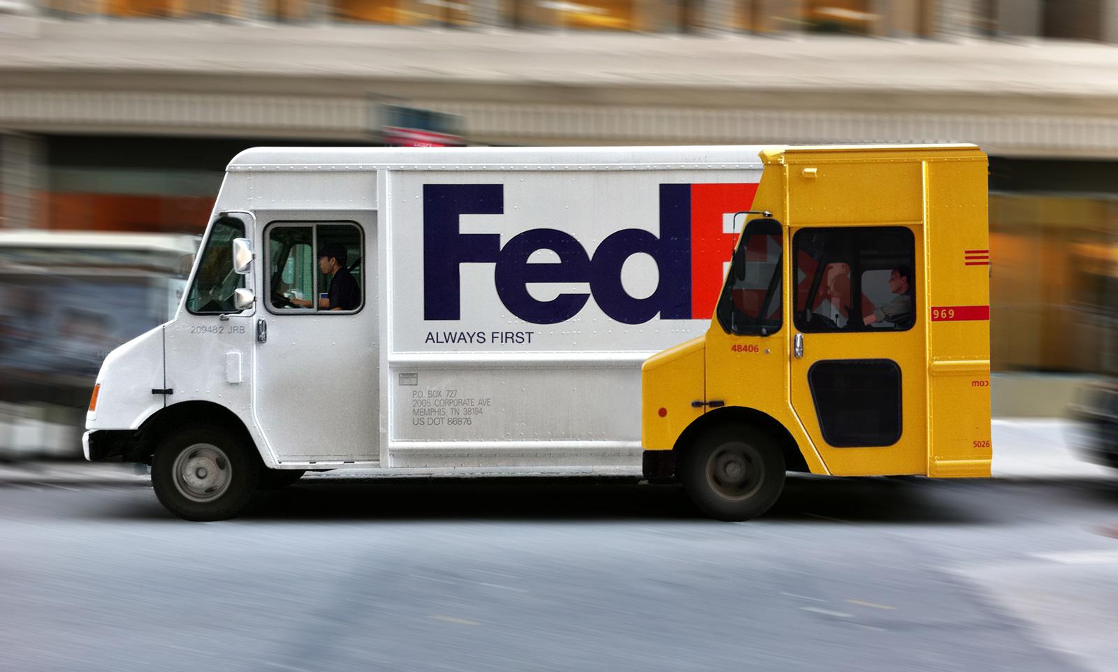 fedex ambient ad always first truck