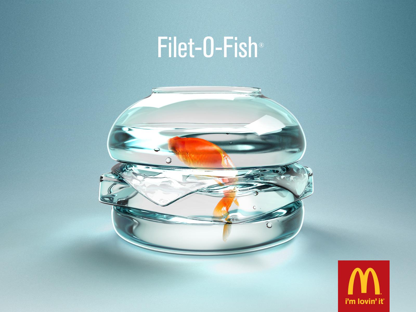 print ad leo burnett. McDonald\u0026#039;s Print Ad - Fish Bowl Leo Burnett
