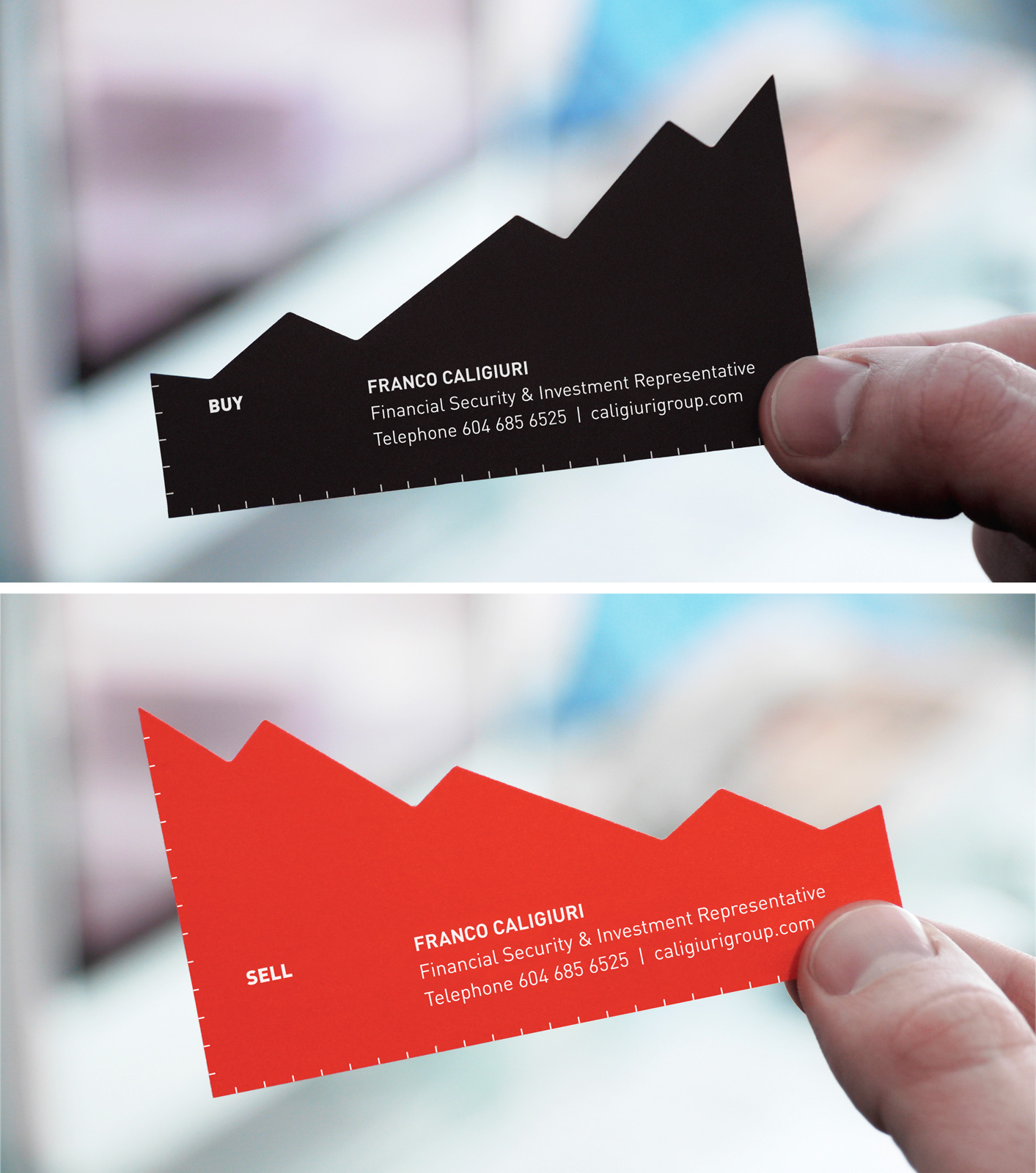 Franco Caligiuri Direct Advert By Rethink: Chart business card | Ads ...