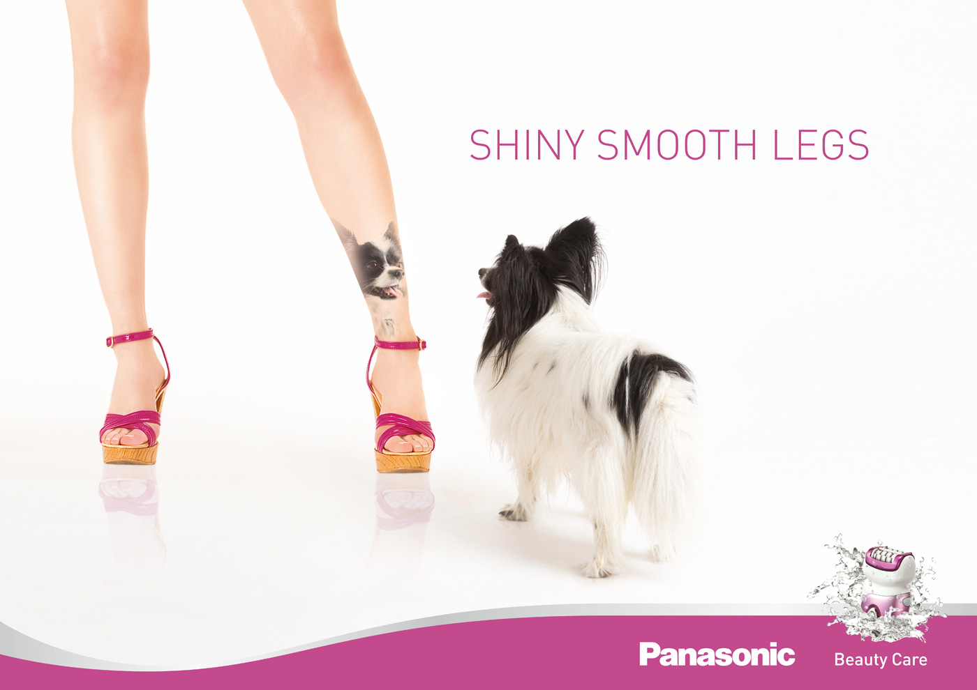 panasonic print advert by glow shiny smooth legs ads of the world  panasonic print ad shiny smooth legs