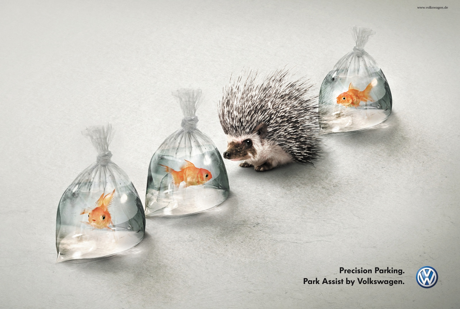volkswagen print advert by ddb hedgehog and fish ads of the world. Black Bedroom Furniture Sets. Home Design Ideas