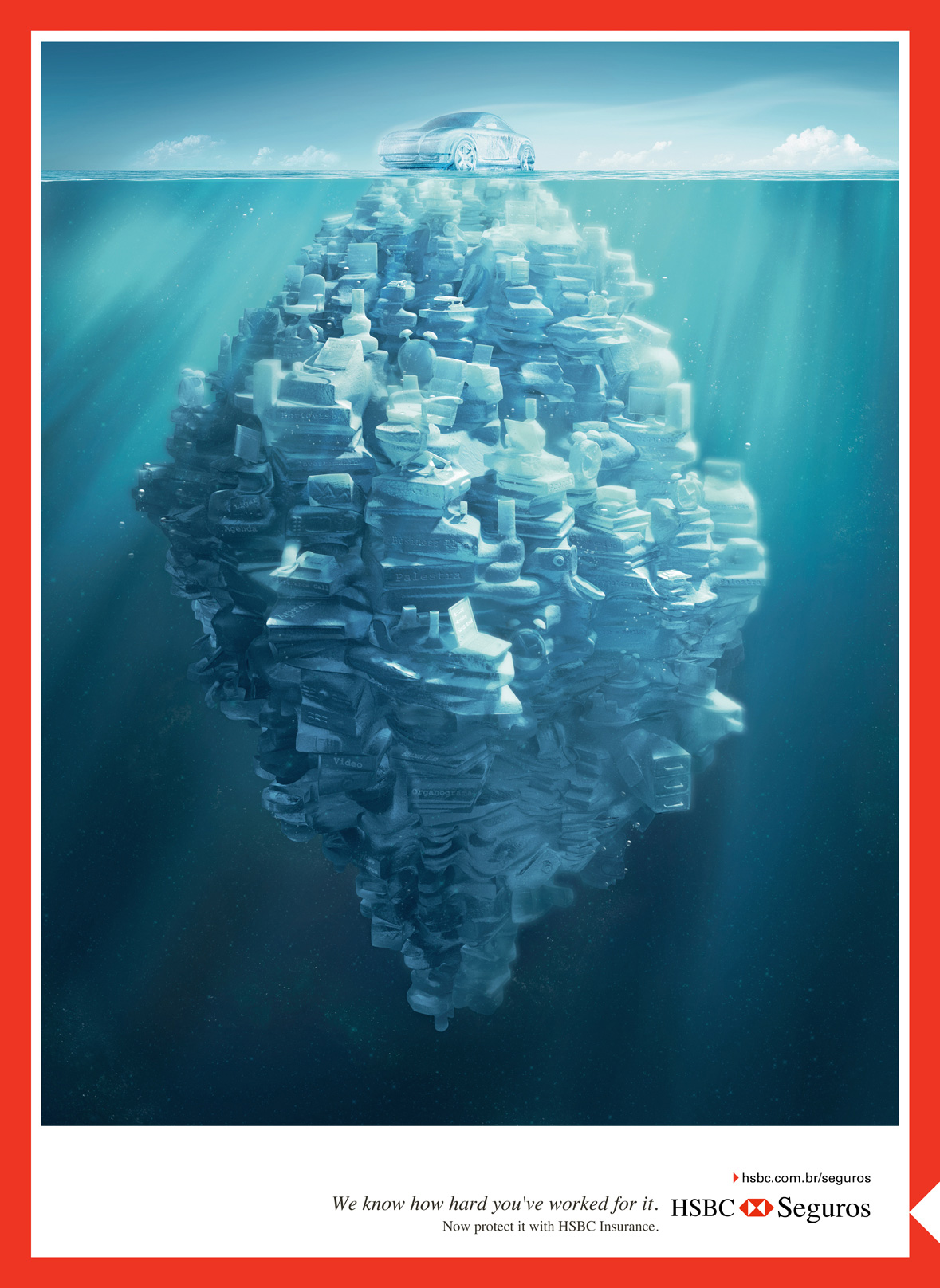 HSBC Print Advert By JWT: Iceberg, Car | Ads of the World™