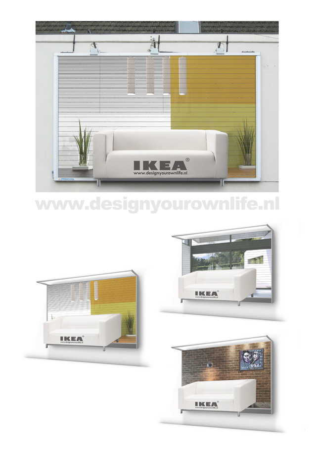 IKEA Outdoor Advert By PnT Design your own life Ads of the World